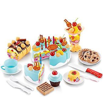 Diy كعكة -- الغذاء التظاهر لعب قطع الفاكهة
