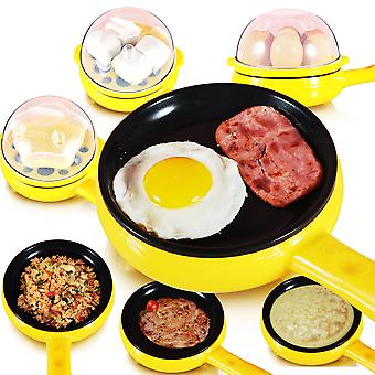 Multifunction Eggs Boiler Household Mini Egg Omelette Pancakes Electric Fried Steak Frying Pan Vapeur bouillie antiadhésive