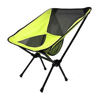 Grøn Oxford Cloth Mesh Stål Pipe Udendørs Ultralight bærbar klapstol