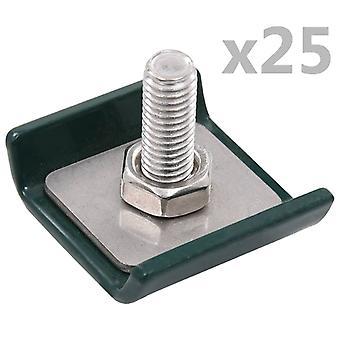 vidaXL شبكة مات موصل 25 مجموعات الأخضر