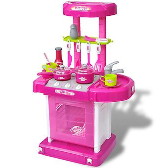 Children's kitchen Play kitchen with light and sound effects Pink