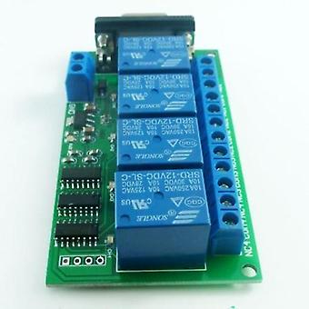 Relay Board - Scm Pc Uart Db9 Remote Control Switch Plc Motor Car