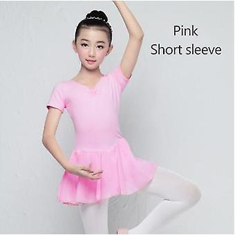 Children Long/short Sleeve Ballet Leotard Dress