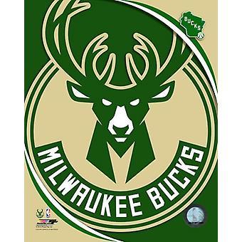 Foto impresión de la insignia del equipo Milwaukee Bucks