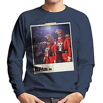 Space 1999 Helena And John In Orange Space Suits Men's Sweatshirt