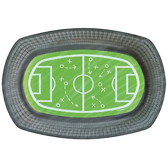 Cardboard Serving Bowls Football Field 24 Cm 6 Pieces