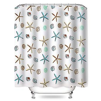 Green Leaves Printing Shower Curtain, Modern Natural Plant, Polyester Bathroom