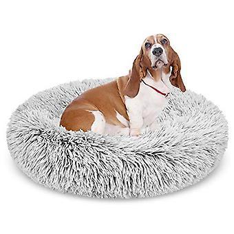 Donut Hund Bett, weiche Shag Plüsch Katze Kissen