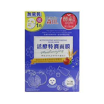 Active Enzyme Moisturizing Facial Mask - 8pcs
