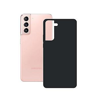 Mobiele hoes Samsung Galaxy S21 KSIX Silk TPU Zwart