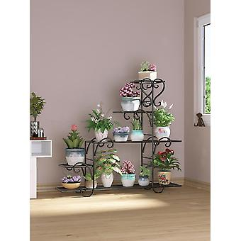 Flower Shelf Indoor Balcony Flower Stand Iron Hanging Orchid Rack Living Room