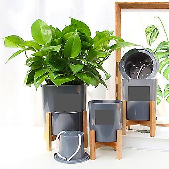 Wooden Four-legged Flower Stand Strong Durable Holder Plant Pot Shelf Tray
