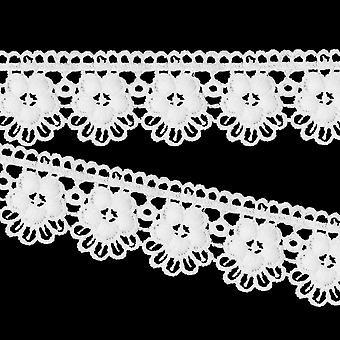 Vintage Style White Cotton Lace Wedding Dress Trim Ribbon