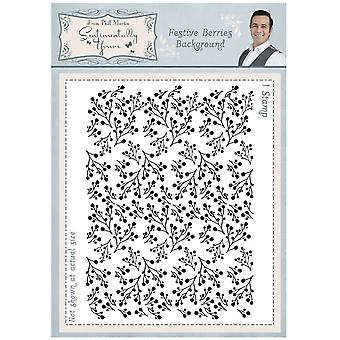 Sentimentally Yours Festive Berries Rambling Branch A6 Background Stamp