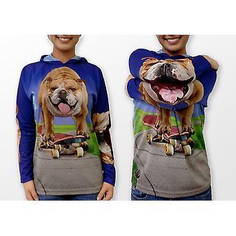 Bulldog Sk8ter Hoodie Chomp Shirt By Mouthman®