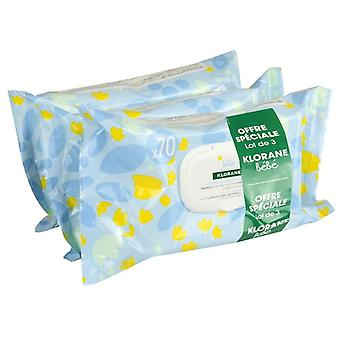 Klorane Cleaning Wipes 3 x 70 Units