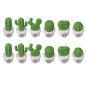 Aimants de réfrigérateur Aimants de bureau de cuisine Décoration Ensemble blanc de 12
