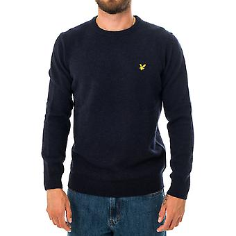 Pull homme lyle & scott crewneck lambswool blend jumper kn921vf.z56
