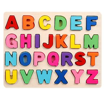 Wooden jigsaw puzzle For Toddlers, Abc Case Letter And Number Educational Toys