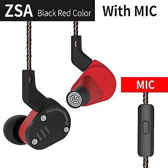 KZ Audio KZ ZSA - In-ear Earbuds - Red