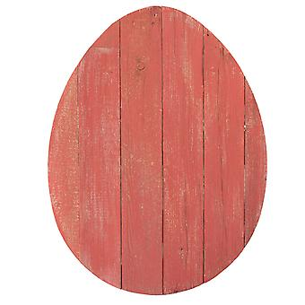 """24"""" Rustic Farmhouse Red Wood Large Egg"""