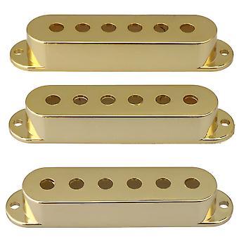 Golden Plastic Gitara elektryczna Części 6 Otwory Pickup Obejmuje 48/50/52mm