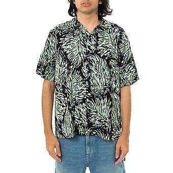Camicia uomo carhartt wip hinterland shirt lyocell hinterland print i028796.obk