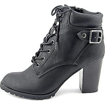 شركة & نمط كيتلين النسائية الجلدية مغلقة إصبع القدم الكاحل أحذية القتال