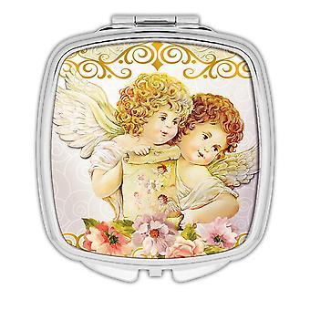Gift Compact Mirror: Victorian Angel Retro