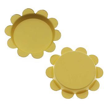 Final Sale - New Yellow Flower Bottle Caps Craft Scrapbook Jewelry No Liners 25mm (24)