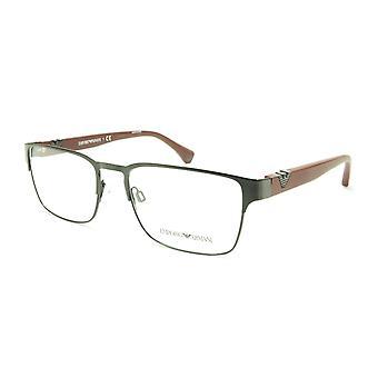 Emporio Armani EA1027 3014 Eyeglasses Frame Acetate Black Dark Red