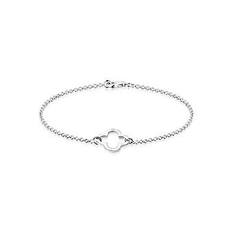 Elli Women's bracelet with four-leaf clover symbol cut out of silver 925 plated rose gold(1)
