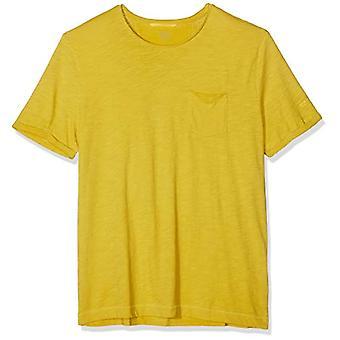 camel active Stripe TS T-Shirt, Yellow (Lemon Core 70), Medium Men