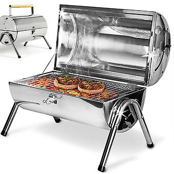 Outdoor Portable Folding Stainless Steel Barbecue Grill Suitcase
