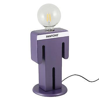 PANTONE Lampe de table Adamo Couleur Violet, Blanc, Noir, en Bois L15xP15xA26 cm