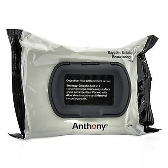 Anthony Logistics för män glykolsyra peeling & Resurfacing våtservetter 30wipes