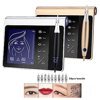 Touch Screen Permanent Makeup Machine Kit for Eyebrow Lip Eyeliner Machine Rechargeable Battery
