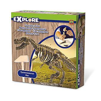 SES Creative - Children's Explore Excavate a T-Rex Dinosaur Skeleton (Multi-colour)