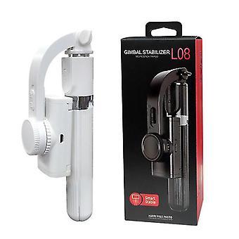 Wireless Gimbal Stabilizer L08 Selfie Stick Tripod(White)