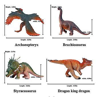 Dinosaurus speelgoed set, plastic dinosaurus speelgoed voor kinderen, 4 pack, dino speelset voor jongens en meisjes leeftijd 3 en