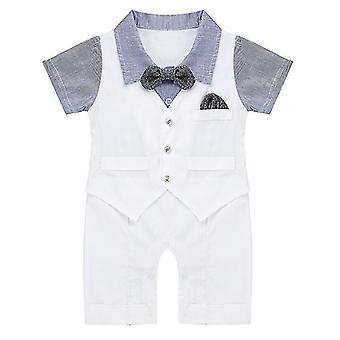Baby Baby Boys Gentleman Einteiler Horizontal Streifen Kurzarm 6-12 Monate