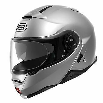 Shoei Neotec 2 Plain Light Motorcykel Hjälm Silver