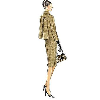 Vogue sy mønster 8146 savner damer ermet jakke kjole størrelse 14-20 uncut