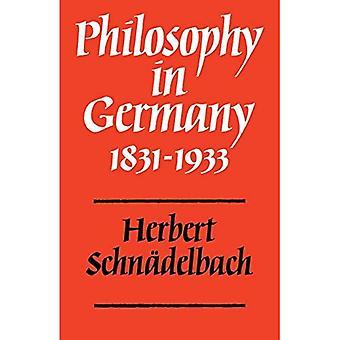 Philosophy in Germany 1831�1933