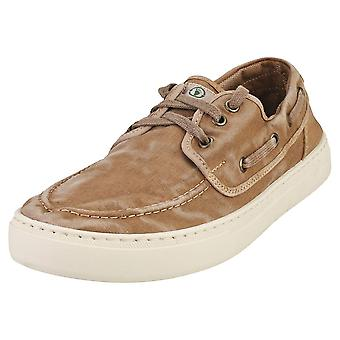 Natural World Old Quercia Mens Casual Shoes in Beige