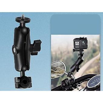 Support de caméra de moto en métal Guidon Support de montage de miroir