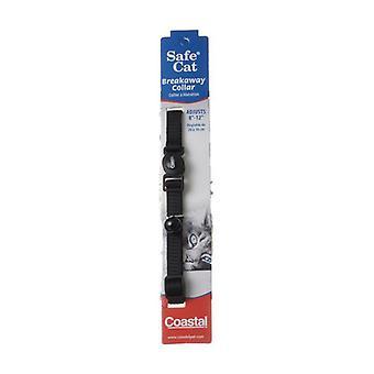 "Coastal Pet Safe Cat Nylon Adjustable Breakaway Collar - Black - 8""-12"" Neck"