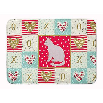 Bath mats rugs burmilla #2 cat love machine washable memory foam mat