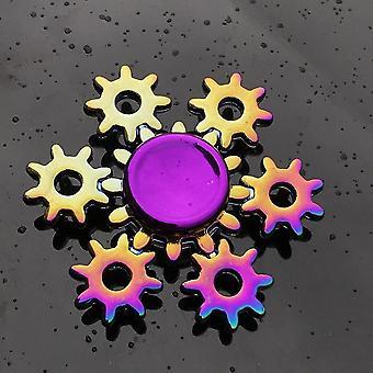 Spinning tops anti stress fidget rainbow modern futuristic metal finger spinner q1