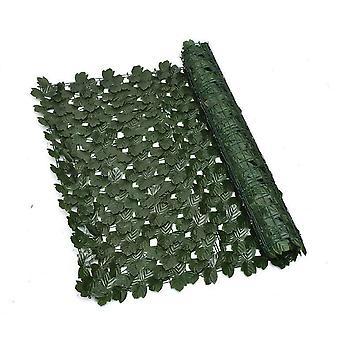 Imitazione piante Schermo di recinzione per la privacy artificiale, recinzione di siepe artificiale e decorazione finta per la decorazione del giardino esterno 1m X 3m, foglia d'acero + 100